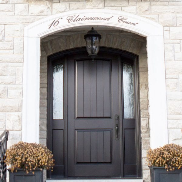 Arched home door in toronto