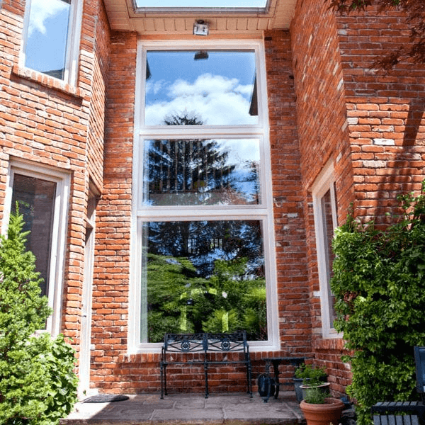 Newly installed low profile fixed windows in Toronto
