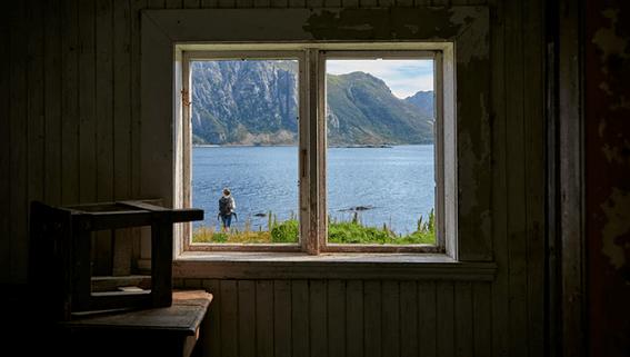 Window facing the lake